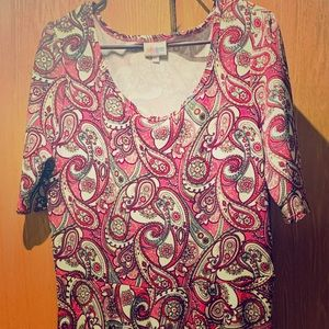 LuLaRoe Nicole Paisley Dress SZ 2XL (22-24)